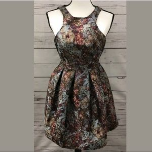 Taylor & Sage Dress Floral with Metallic Threads
